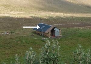 Panneau solaire pour une maison isolée